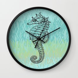 Seahorse ~ The Summer Series Wall Clock