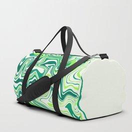 Fresh Lime Agate Slice Duffle Bag