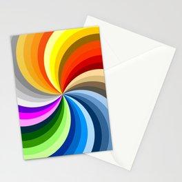 Rainbow Swirl Multi-Coloured Circle Design Stationery Cards