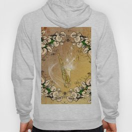 Saxophone with flowers Hoody