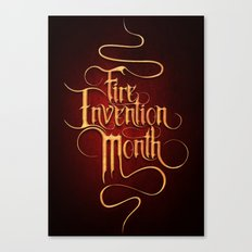 Fire Invention Month Canvas Print