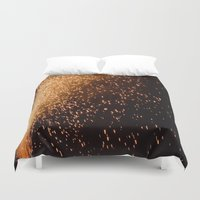 fireworks Duvet Covers featuring Fireworks  by MelissaLaDouxPhoto