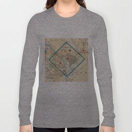 Vintage Map of Washington D.C. Battlefields (1862) Long Sleeve T-shirt