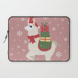 Cute Christmas Llama Laptop Sleeve