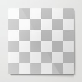 Gray & White Checkerboard Metal Print