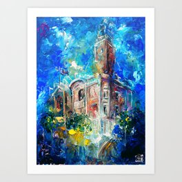 THE CITY HALL OF COLCHESTER Art Print