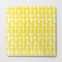 The Cross - Gold Metal Print