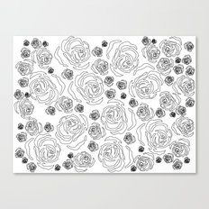 rose repeat Canvas Print