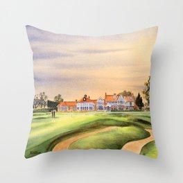 Muirfield Golf Course 18th Green Throw Pillow