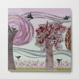 Pink Grove Metal Print