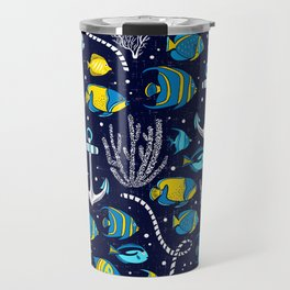 Deep Blue Sea Navy Travel Mug