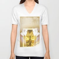 actor V-neck T-shirts featuring Robert Pattinson - Actor by Sherazade's Graphics