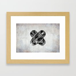Kikuchi Clan · Black Mon · Distressed Framed Art Print