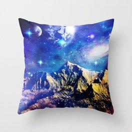 Mountain Stars Throw Pillow