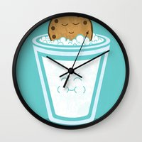 cookie Wall Clocks featuring Hot Tub Cookie by Teo Zirinis