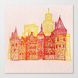 Letterpress Castle 2 Canvas Print