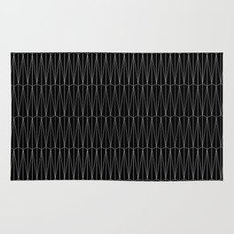 Shifted Hex-triangle Tiling_Gray Black Rug