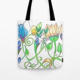Flower Freize Tote Bag
