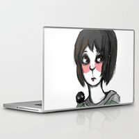 chihiro Laptop & iPad Skins featuring Chihiro, with a friend by Daytwah