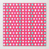 polka dots Canvas Prints featuring Polka Dots by Ornaart