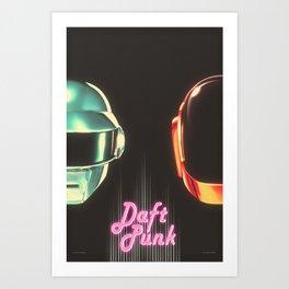 Fan Made Daft Punk Poster  Art Print