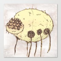 spider Canvas Prints featuring Spider by Of Lions And Lambs