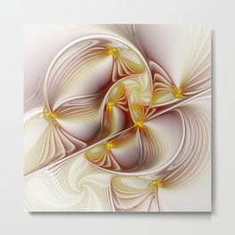 Decor with Gold, Abstract Fractal Art Metal Print