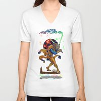 returns V-neck T-shirts featuring Hope Returns by Artless Arts