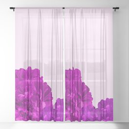 Purple Peonies On A Pink Background #decor #society6 #buyart Sheer Curtain