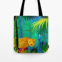 panther Tote Bags featuring Panther by Nato Gomes