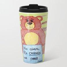 Sad bear & friend Metal Travel Mug