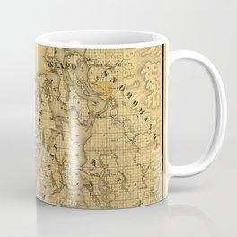 Map of Puget Sound 1877 Coffee Mug