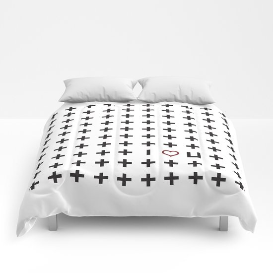 Plus i love you Comforters