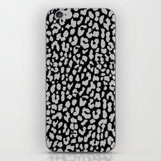 Gray Black Leopard iPhone & iPod Skin