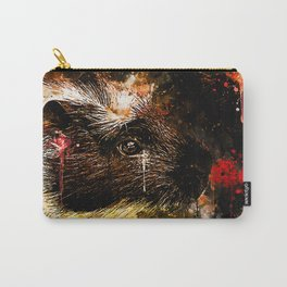 guinea pig colorful side portrait wsee Carry-All Pouch