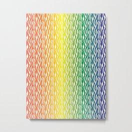 Rainbow Zebra Pattern Print Metal Print