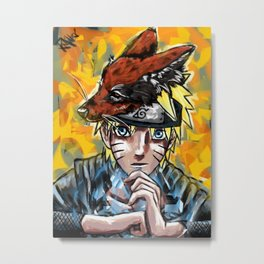 Abstract Naruto Metal Print