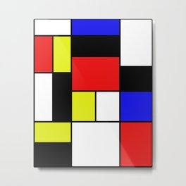 Mondrian #21 Metal Print