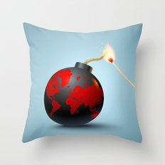 Lets burn it III Throw Pillow