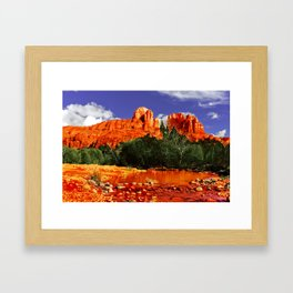 Cathedral Rock in Red Rock State Park Arizona Framed Art Print