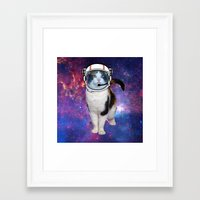 space cat Framed Art Prints featuring Space cat by S.Levis