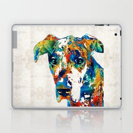 Colorful Great Dane Art Dog By Sharon Cummings Laptop & iPad Skin