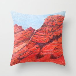 Red Clay Mountain By Catherine Coyle Throw Pillow