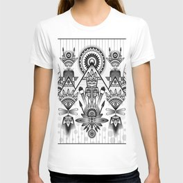 Native American, Black and White Drawing T-shirt