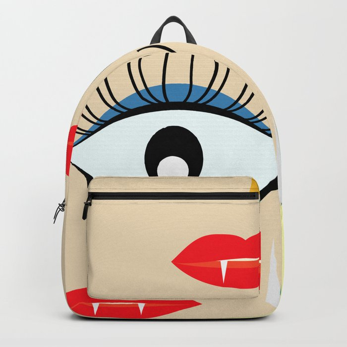 Halloween makeup Backpack
