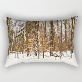 Maple Beech Forest in the Winter Rectangular Pillow