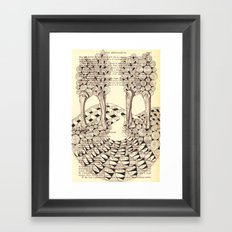 Forest of Fingers Framed Art Print