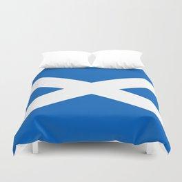 Flag of Scotland - High quality image Duvet Cover