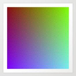 Beautiful Colors - Algorithmic Art Art Print