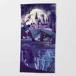 The Castle on the Hill Beach Towel